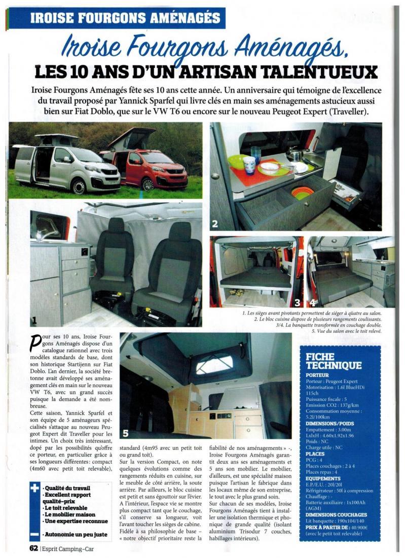 Article Esprit Camping-Car 2018